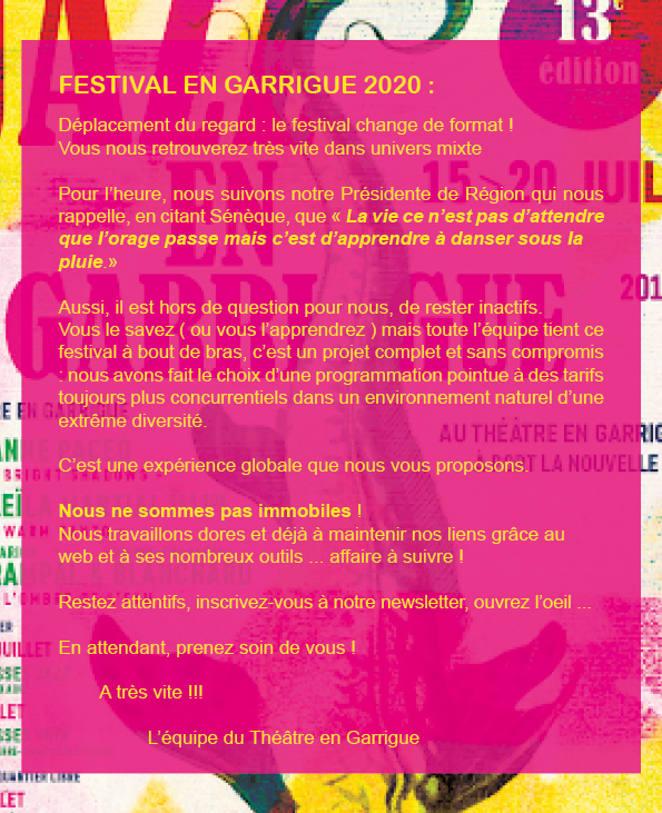 Festival en garrigue 14eme édition